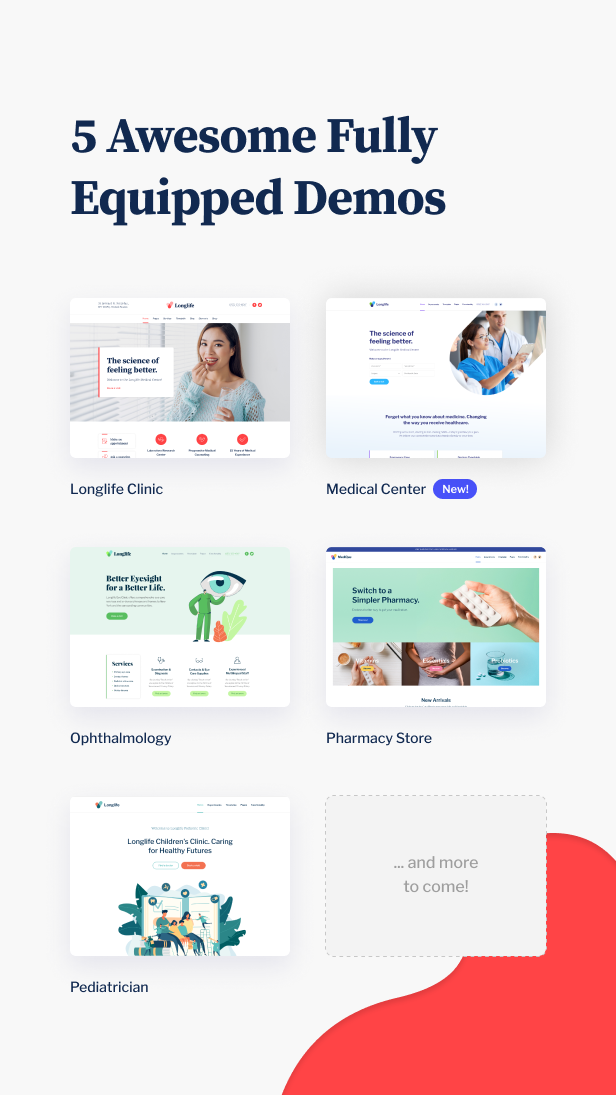 LongLife - Doctor, Health & Medical WordPress Theme - 4