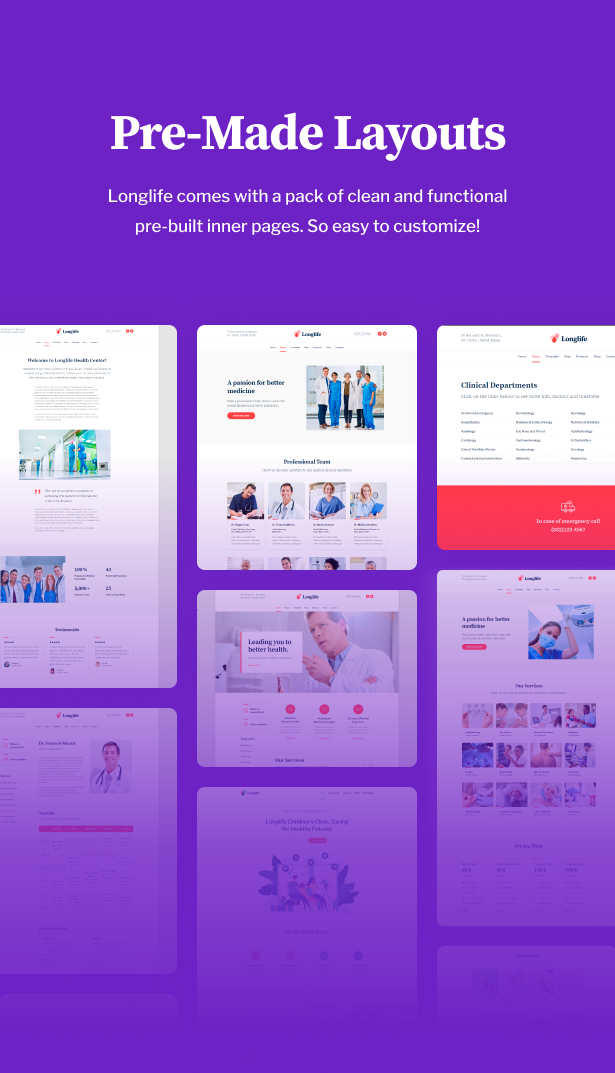 LongLife - Doctor, Health & Medical WordPress Theme - 5